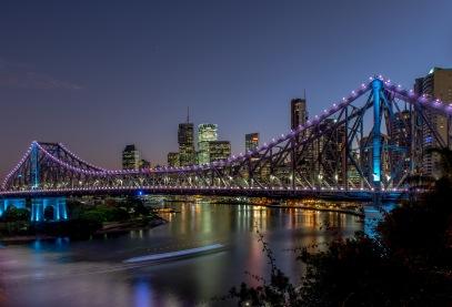 Purple Story Bridge The Story Bridge in Blue