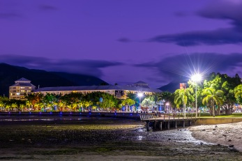 The Esplanade in the blue hour.